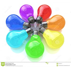 http://www.dreamstime.com/stock-images-light-bulbs-kaleidoscope-rainbow-colors-design-information-associated-communication-new-ideas-image50409474